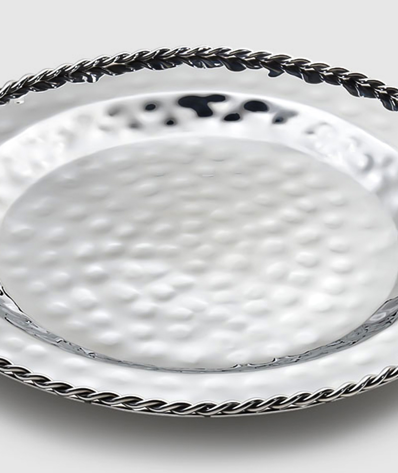 Paloma Serving Dish w/ Braided Wire Detail