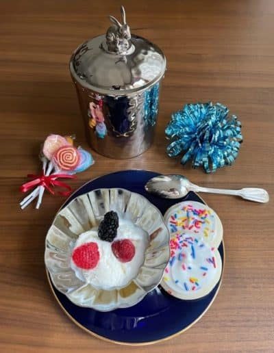 Bunny Ice Cream Holder and Silhouette Bowl