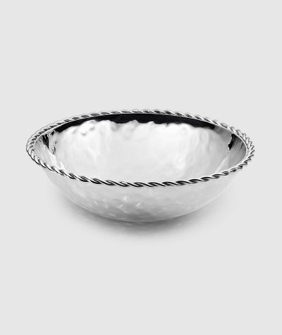 "Paloma Round Bowl w/ Braided Wire 9"" D"